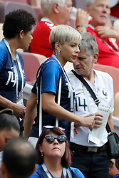 France's Blaise Matuidi wife Isabeller during the 2018 FIFA World Cup Russia game, France vs Denmark in Luznhiki Stadium, Moscow, Russia on June 26, 2018. France and Denmark drew 0-0. Photo by Henri Szwarc/ABACAPRESS.COM