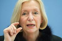 21 FEB 2013, BERLIN/GERMANY:<br /> Johanna Wanka, CDU, Bundesministerin fuer Bildung und Forschung, wahrend einer Pressekonferenz, Bundespressekonferenz<br /> IMAGE: 20130221-01-028