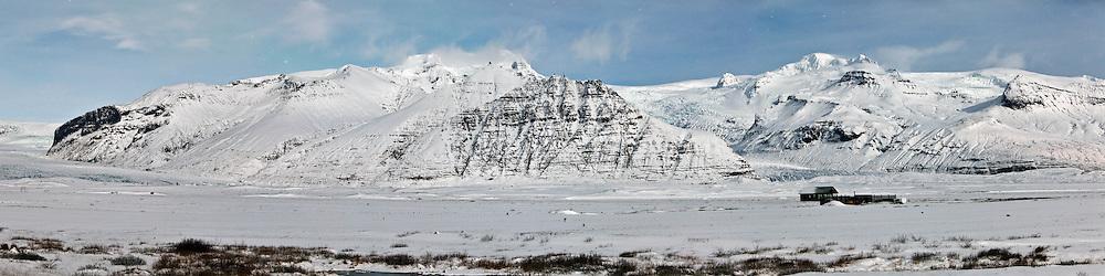 Skaftafell National Park Panorama, south Iceland