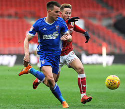 Josh Brownhill of Bristol City battles with Jonas Knudsen of Ipswich Town- Mandatory by-line: Nizaam Jones/JMP - 17/03/2018 - FOOTBALL - Ashton Gate Stadium- Bristol, England - Bristol City v Ipswich Town - Sky Bet Championship