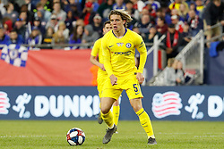 May 15, 2019 - Foxborough, MA, U.S. - FOXBOROUGH, MA - MAY 15: Chelsea FC midfielder Conor Gallagher (51) loos wide during the Final Whistle on Hate match between the New England Revolution and Chelsea Football Club on May 15, 2019, at Gillette Stadium in Foxborough, Massachusetts. (Photo by Fred Kfoury III/Icon Sportswire) (Credit Image: © Fred Kfoury Iii/Icon SMI via ZUMA Press)