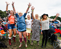 Pictured: Billy Ocean fans eagerly await his appearance at Party at the Palace in Linlithgow as he headlines the main stage. Andrew West/ EEm