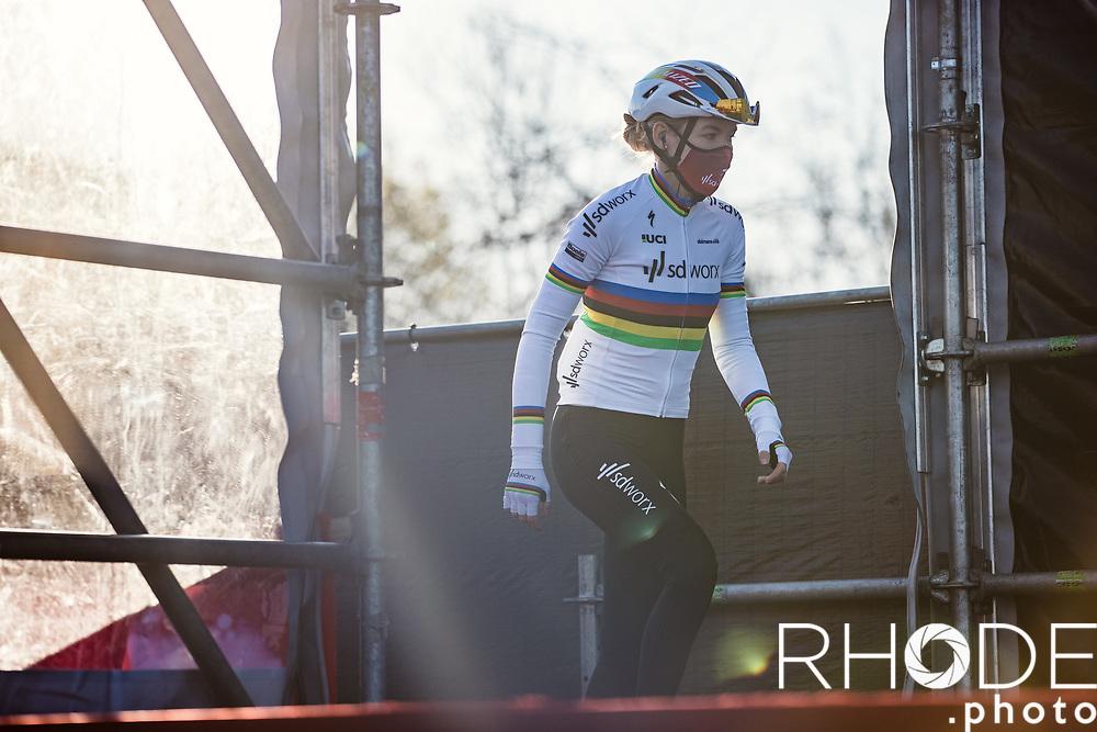 World Champion Anna van der Breggen (NED/SD Worx) at the pre race team presentation<br /> <br /> 7th Amstel Gold Race Ladies Edition <br /> Valkenburg > Valkenburg 116km<br /> <br /> ©RhodePhoto