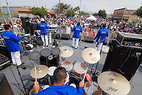 Banda Grupo Kapricho rocks the the traditional El Grito Festival in Salinas on Sunday.