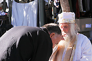 Jewish holy man blesses a believer