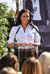 The Duchess of Sussex launch the Smart Works capsule collection at John Lewis in Oxford Street, London.