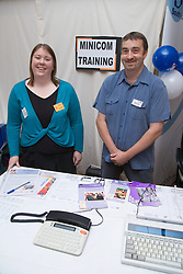 Trainers at stand at City of Nottingham's Deaf Awareness Day; June 2006
