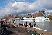 Molesey, Surrey. Competitors boating for the Molesey Veterans Head. Saturday  21/02/2015  [Mandatory Credit; Peter Spurrier/Intersport-images]