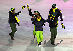 Member of the Jamaican team during the Opening Ceremony of the PyeongChang 2018 Winter Olympic Games at the PyeongChang Olympic Stadium in South Korea.