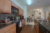 Interior image of the Model Apartment at the Reserve at Riverside Apartments by Jeffrey Sauers of Commercial Photographics