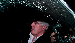 © London News Pictures. 06/12/2012. Walton-on-Thames, UK .  Publicist Max Clifford arriving back at his home in Walton on Thames, Surrey, UK after he was arrested in connection with the Jimmy Savile investigation. Photo credit: Ben Cawthra/LNP