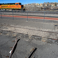 The north east corner of the Gallup Cultural Center parking lot used to house a vintage caboose but is now scheduled to become a new skate park.