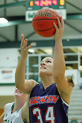 06 December 2017:  Hannah Frazier during an NCAA women's basketball game between the Wheaton Thunder and the Illinois Wesleyan Titans in Shirk Center, Bloomington IL