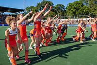 AMSTELVEEN  -  Oranje wint de finale na schoot outs. Vreugde  na   de finale  Nederland-Australie (2-2)  van de Pro League hockeywedstrijd dames. .  COPYRIGHT KOEN SUYK