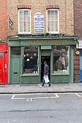 Exterior of a vintage clothes shop, Vintage Showroom on 2nd November 2015 in London, United Kingdom.
