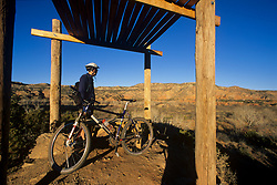 Biker takes in the view at Palo Duro Canyon