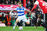 Queens Park Rangers Midfielder Luke Freeman (7) in action during the EFL Sky Bet Championship match between Brentford and Queens Park Rangers at Griffin Park, London, England on 2 March 2019.