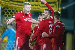 Aberdeen's team cele scoring their second goal. Livingston 1 v 2 Aberdeen, SPFL Ladbrokes Premiership played 29/1/2018 at Livingston home ground, Tony Macaroni Arena.