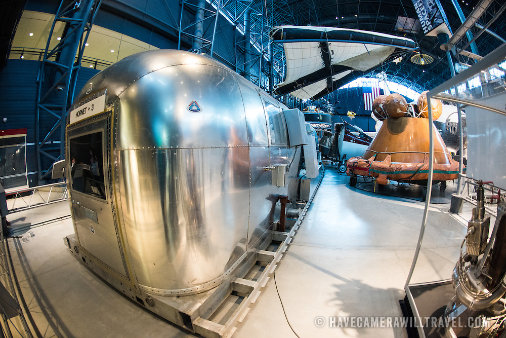 Located near Dulles Airport, the Udvar-Hazy Center is the second public facility of the Smithsonian's National Air and Space Museum. Housed in a large hangar are a multitude of planes, helicopter, rockets, and space vehicles. The MQF is a converted Airstream trailer.