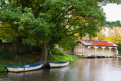 Edinburgh Canal Society Boathouse beside the Union Canal in Edinburgh, Scotland, United Kingdom.