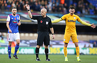Referee Andy Woolmer in action<br /> <br /> Photographer David Shipman/CameraSport<br /> <br /> The EFL Sky Bet Championship - Ipswich Town v Preston North End - Saturday 3rd November 2018 - Portman Road - Ipswich<br /> <br /> World Copyright © 2018 CameraSport. All rights reserved. 43 Linden Ave. Countesthorpe. Leicester. England. LE8 5PG - Tel: +44 (0) 116 277 4147 - admin@camerasport.com - www.camerasport.com
