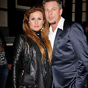 NLD/Amsterdam/20120217 - Premiere Saturday Night Fever, Laura Vlasblom en partner Michel Veenman