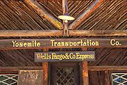 Yosemite Transportation Company and Wells Fargo Express office at the Pioneer Yosemite History Center in Wawona, Yosemite National Park (World Heritage Site), California