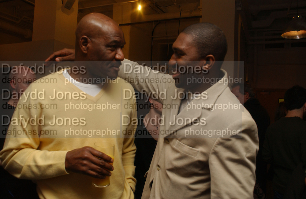 Delroy lindo and Kwame Kwai-Armah'The Exonerated' Riverside Studios. 24 February 2006. ONE TIME USE ONLY - DO NOT ARCHIVE  © Copyright Photograph by Dafydd Jones 66 Stockwell Park Rd. London SW9 0DA Tel 020 7733 0108 www.dafjones.com