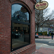 John Harvard's Brew House window in Boston, MA