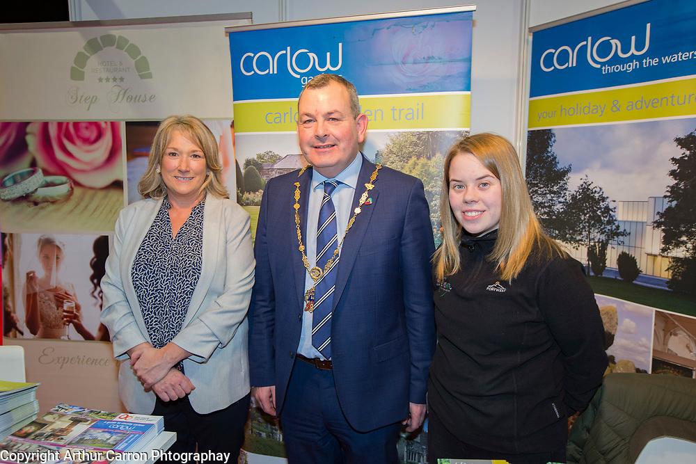 24/1/20 Deputy Lord Mayor Tom Brabazon at the Holiday World Show at the RDS Simmonscourt in Dublin. Picture: Arthur Carron.