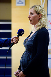 Deja Ivanovic Doler at press conference of women handball club RK Krim Mercator,  on October 20, 2009, in M Hotel, Ljubljana, Slovenia.   (Photo by Vid Ponikvar / Sportida)