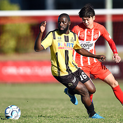 BRISBANE, AUSTRALIA - JUNE 17:  during the NPL Under 20's Round 17 match between Olympic FC and Moreton Bay Jets on June 17, 2018 in Brisbane, Australia. (Photo by Olympic FC / Patrick Kearney)