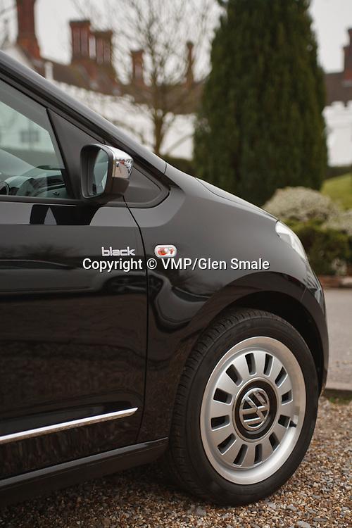 VW Black up! 1.0-litre 75 PS (2012), Danesfield House, Marlow, Bucks., UK