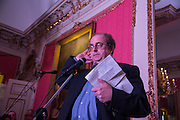 ALEXANDER WAUGH, The Literary Review Bad Sex in Fiction Award 2014. The In and Out ( Naval and Military ) Club, 4 St. James's Sq. London SW1. 3 December 2014.
