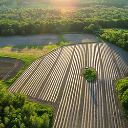 An aerial view of Pearl Farm in Loudon, New Hampshire.