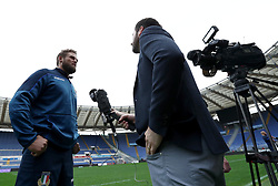 November 23, 2018 - Rome, Italy - Rugby Italy captains run - Cattolica Test Match.Dean Budd intrviewed by New Zealand journalists at Olimpico Stadium in Rome, Italy on November 23, 2018. (Credit Image: © Matteo Ciambelli/NurPhoto via ZUMA Press)