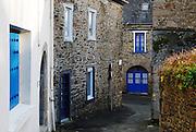 An old street of La Roche Derrien, Brittany, France