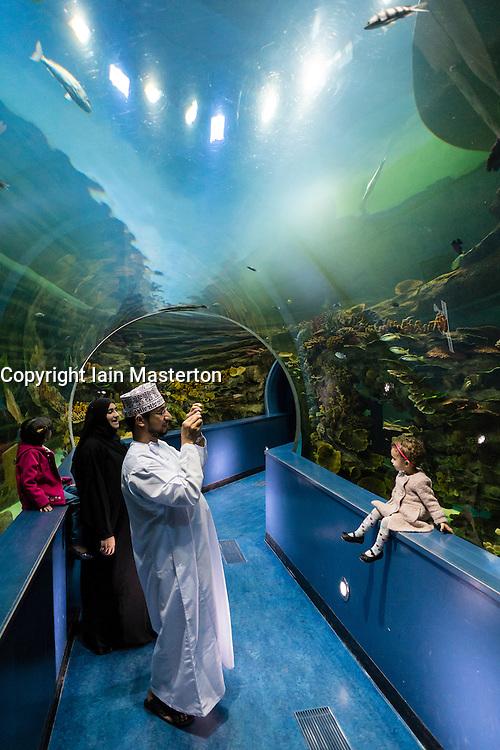 Aquarium in Sharjah in United Arab Emirates
