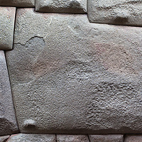 The famous twelve angle stone is part of a huge inca wall, built in Cusco.