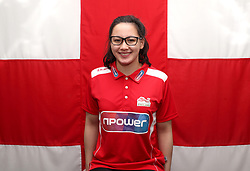 Team England's Alice Tai poses for a photo during the kitting out session at Kukri Sports HQ, Preston.