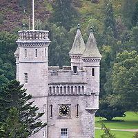 Balmoral , UNITED KINGDOM - SEPTEMBER 07: General View of Balmoral Castle the official residence of Her Majesty the Queen  during the Braemar Games 2008