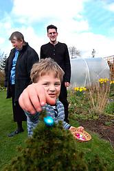 Easter egg hunt in the garden UK