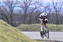 March 7, 2018 - Saint Etienne, France - SAINT-ETIENNE, FRANCE - MARCH 7 : TEUNISSEN Mike  (NED)  of Team Sunweb in action during stage 4 of the 2018 Paris - Nice cycling race, an individual time trial over 18,4 km from La Fouillouse to Saint-Etienne on March 07, 2018 in Saint-Etienne, France, 7/03/2018 (Credit Image: © Panoramic via ZUMA Press)