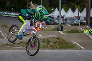 #93 (STEVAUX CARNAVAL Priscilla) BRA during round 3 of the 2017 UCI BMX  Supercross World Cup in Zolder, Belgium,