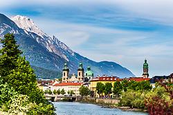 Inn River, Innsbruck, Austria, Innsbruck Austria, Nordkette Mountain, river walk,