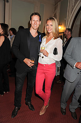 BRENDAN COLE and his wife ZOE HOBBS at an after show party following the 1st preview show of the new show Top Hat in aid of the charity Starlight held at the Aldwych Theatre, London on 19th April 2012.