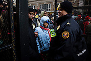 The Inauguration of President Barack Obama. Washington DC, January 20, 2009. Waiting at a security checkpoint to be admitted to the Parade Route.