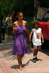 Jun 18, 2001; Miami, Florida, USA; North&South America ONLY! File Photo: BARBARA BECKER & son, Ex-wife of Pro Tennis Player Boris Becker meets him in Miami from June 6-10. Boris is in hiding from a scandal in Germany involving a bancruptcy filing of one of his companies called Sportgate..  (Credit Image: P.P./ZUMAPRESS.com)