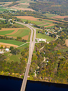 Aerial view of Highways 18 & 35 along the Wisconsin River.