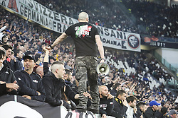 May 3, 2019 - Turin, Piedmont, Italy - Fans of Juventus FC during the Serie A football match between Juventus FC and Torino FC at Allianz Stadium on May 03, 2019 in Turin, Italy..Final results: 1-1. (Credit Image: © Massimiliano Ferraro/NurPhoto via ZUMA Press)